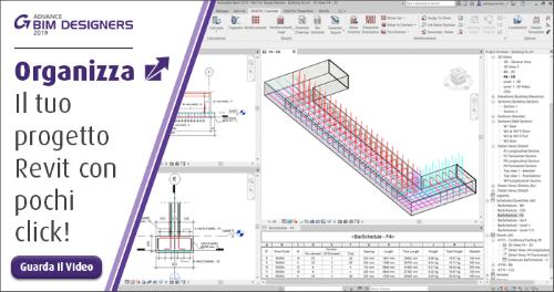 Software di disegno dettagliato 3D delle armature - Creareautomaticamentele distinte delle barre in Revit