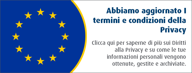 Privacy Notice Banner Italian