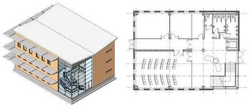 Come creare una vista 3D di una sezione di un livello in Revit Structure e Revit Architecture