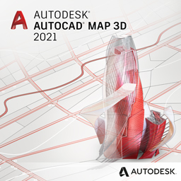 autocad map 3d 2021 badge 256px